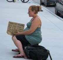 pregnant and unemployed woman begging,unemployment