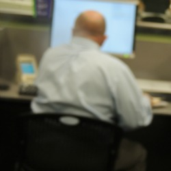 man sitting at desk,not impartial to suicide