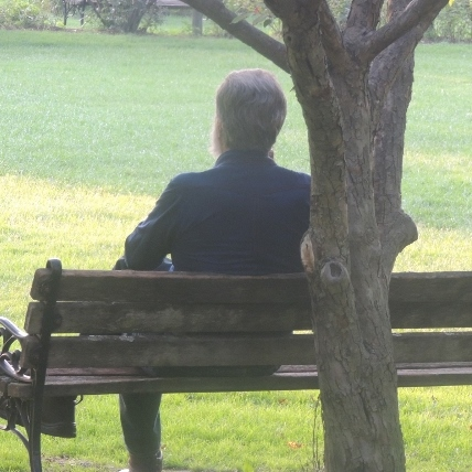 man sitting under tree, I hate my life