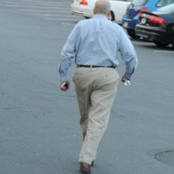 man walking away,life not impartial to death